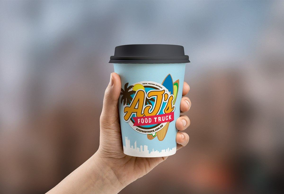 AJ's Food Truck Cup of Coffee Concept