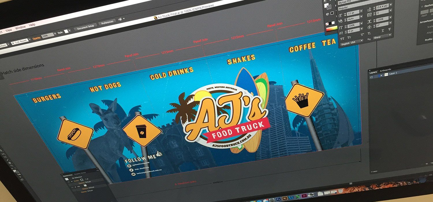 AJ's Food Truck Design in Photoshop