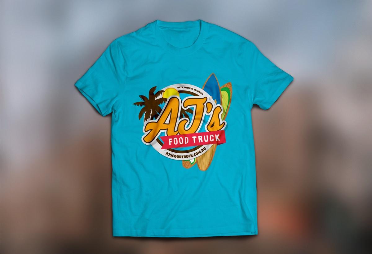 AJ's Food Truck T-shirt Mockup