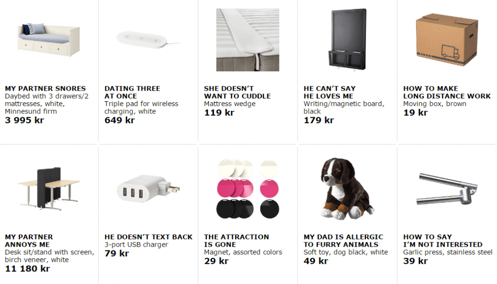 Ikea retail therapy adverts