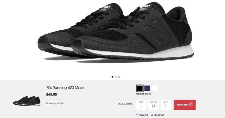 New Balance Product Imagery