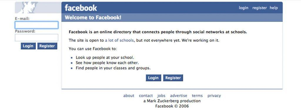 What Facebook Looked Like in 2006