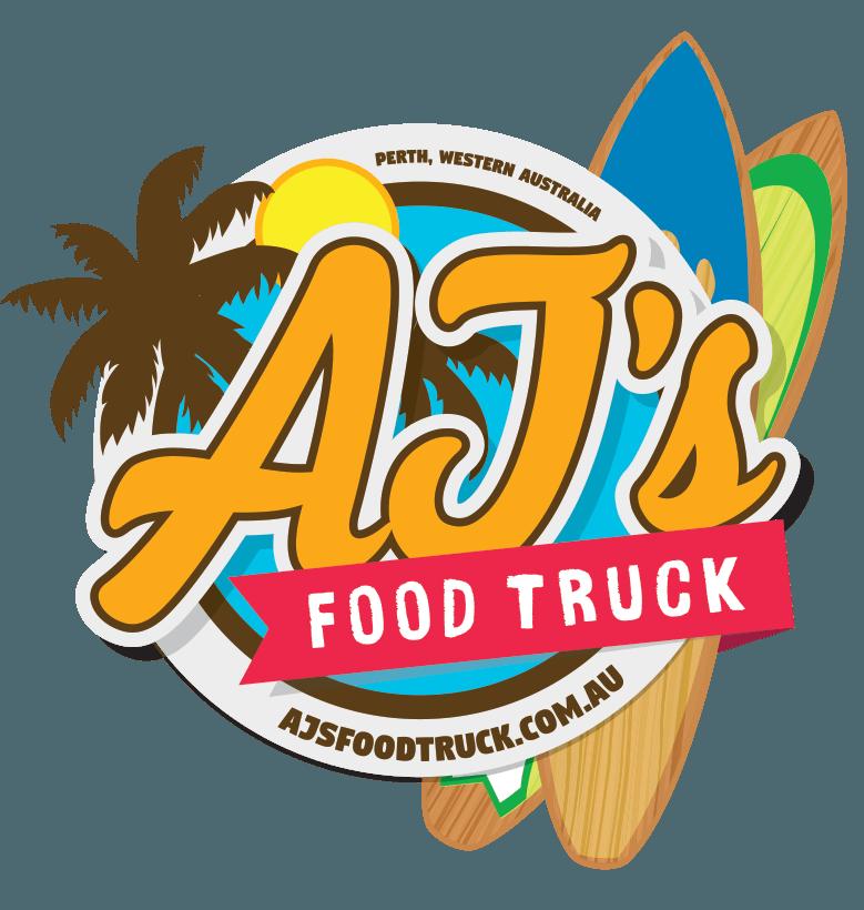 final Ajs food truck logo design