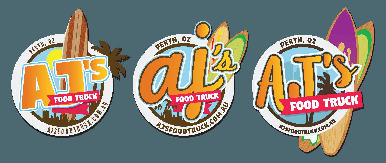 aj's food truck design branding concepts