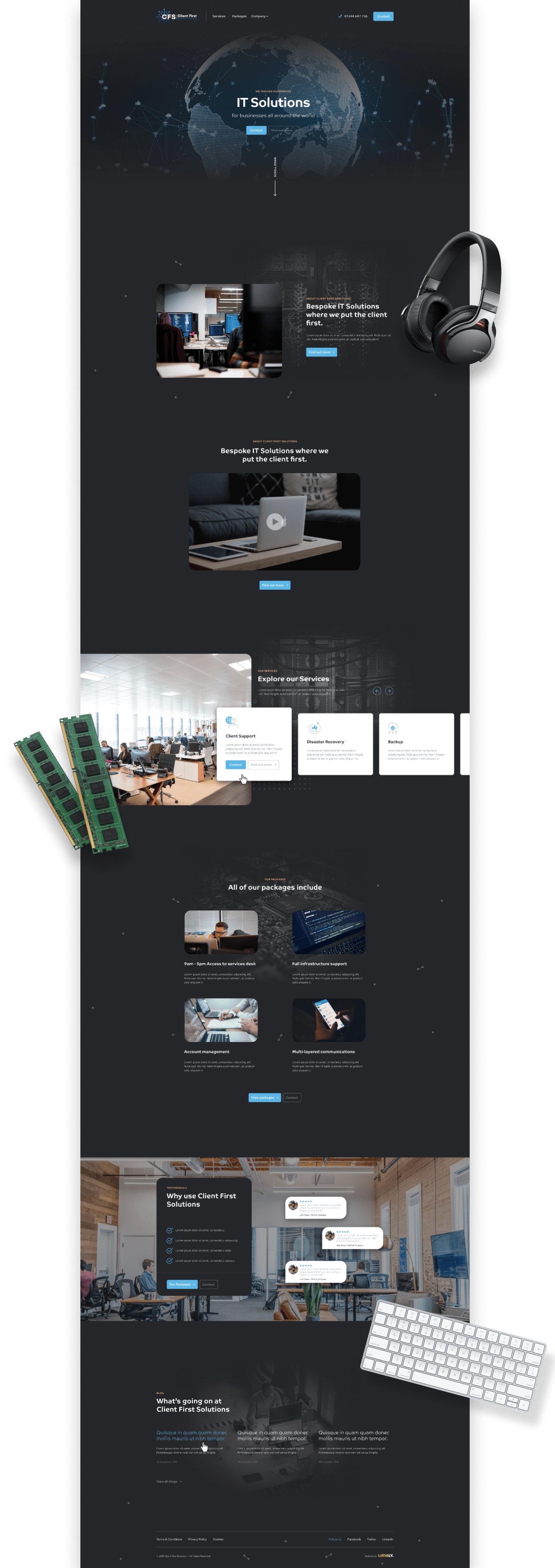 Client First Solutions website