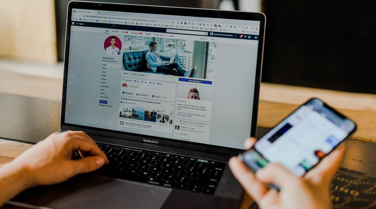 Facebook Profile on Laptop