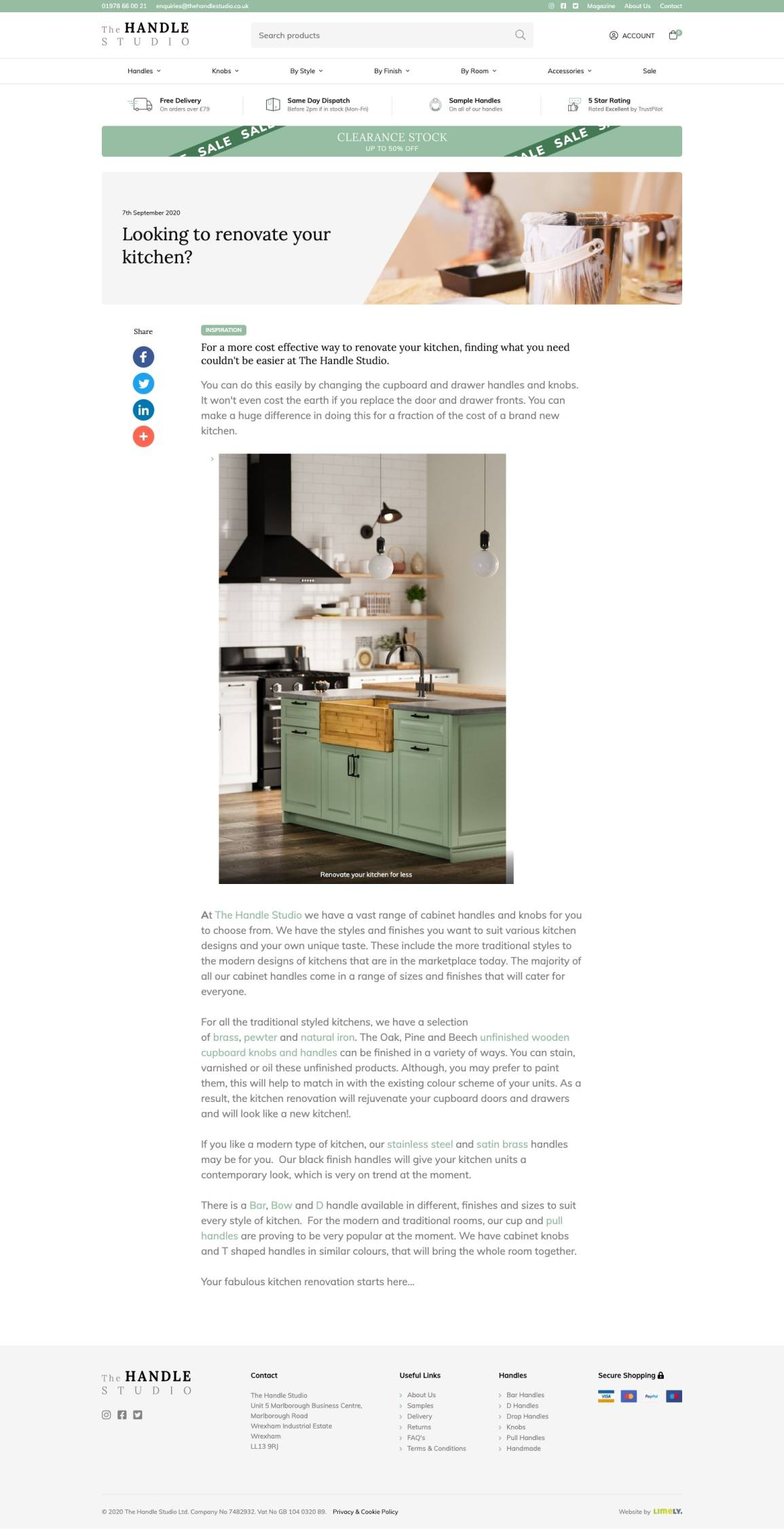 The Handle Studio Blog full page
