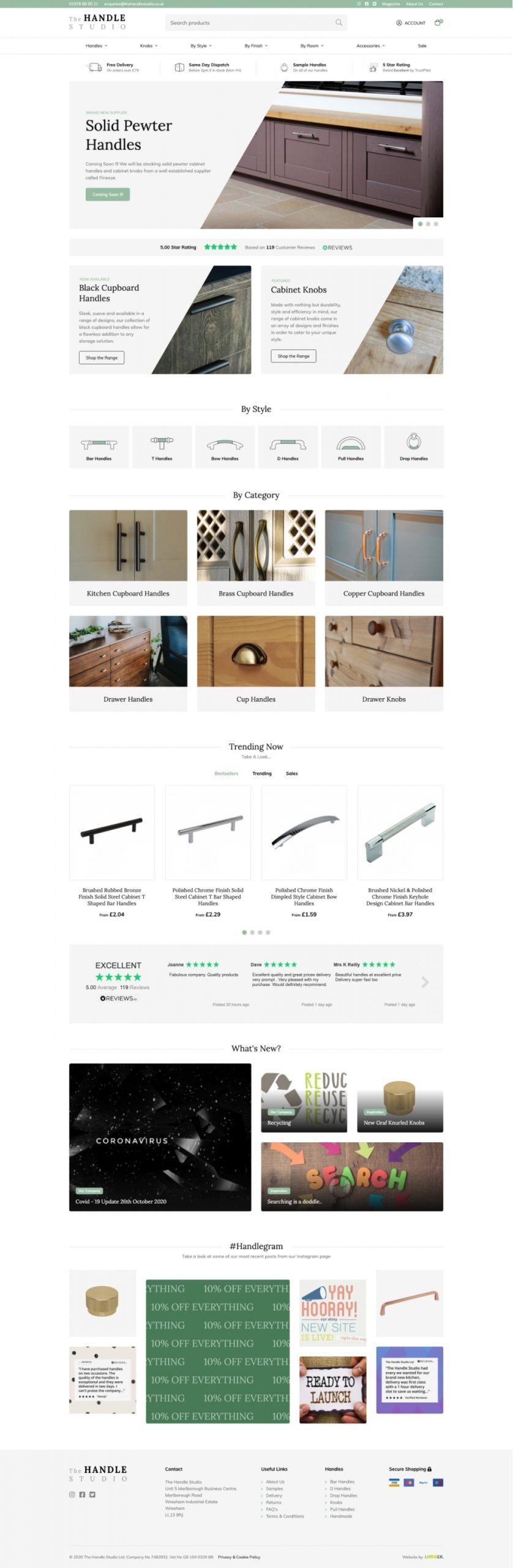 The Handle Studio Homepage scaled