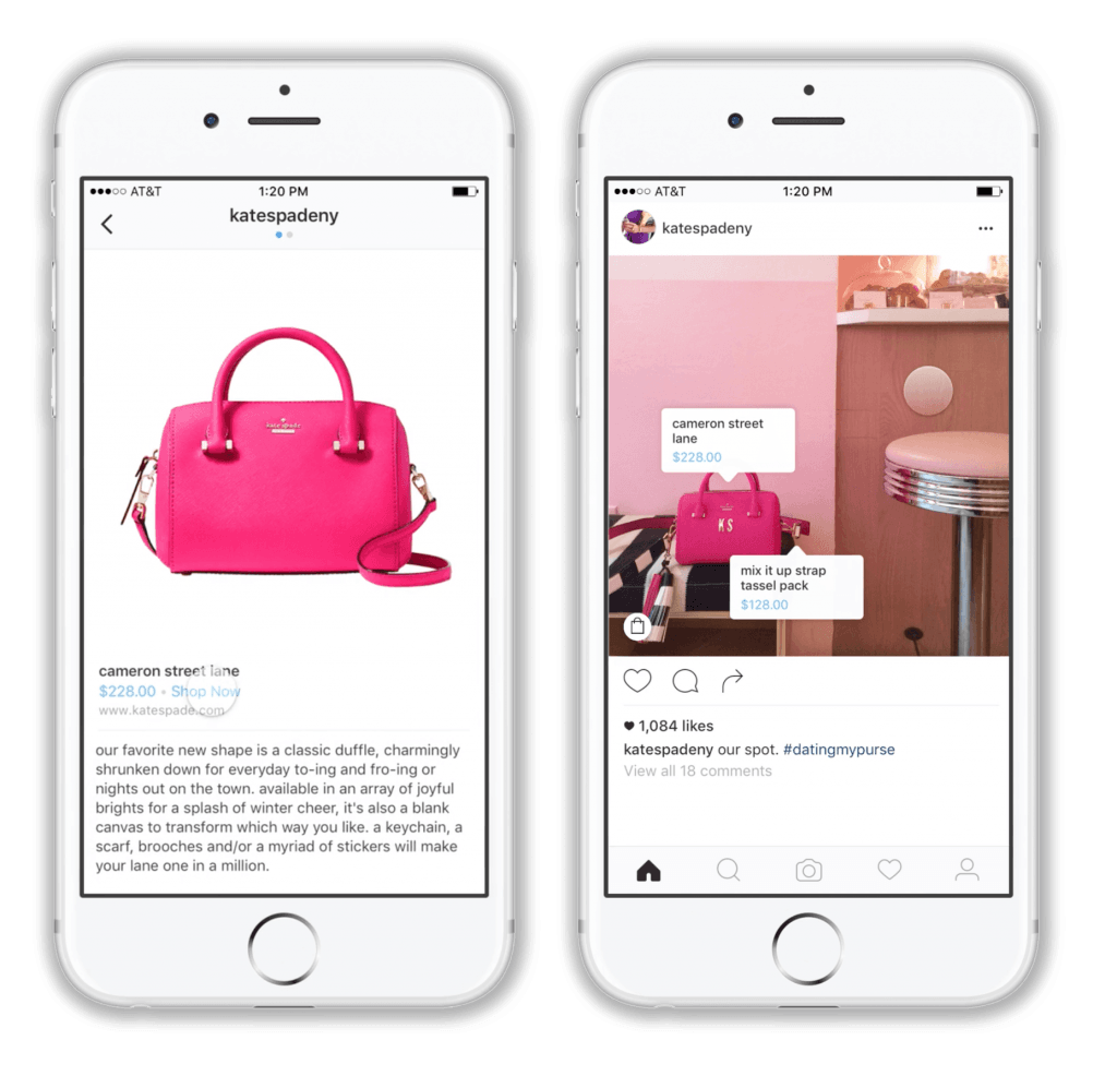 instagram shoppable shopping in app purchases