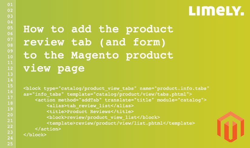 How To Add The Product Review Tab (And Form) To The Magento