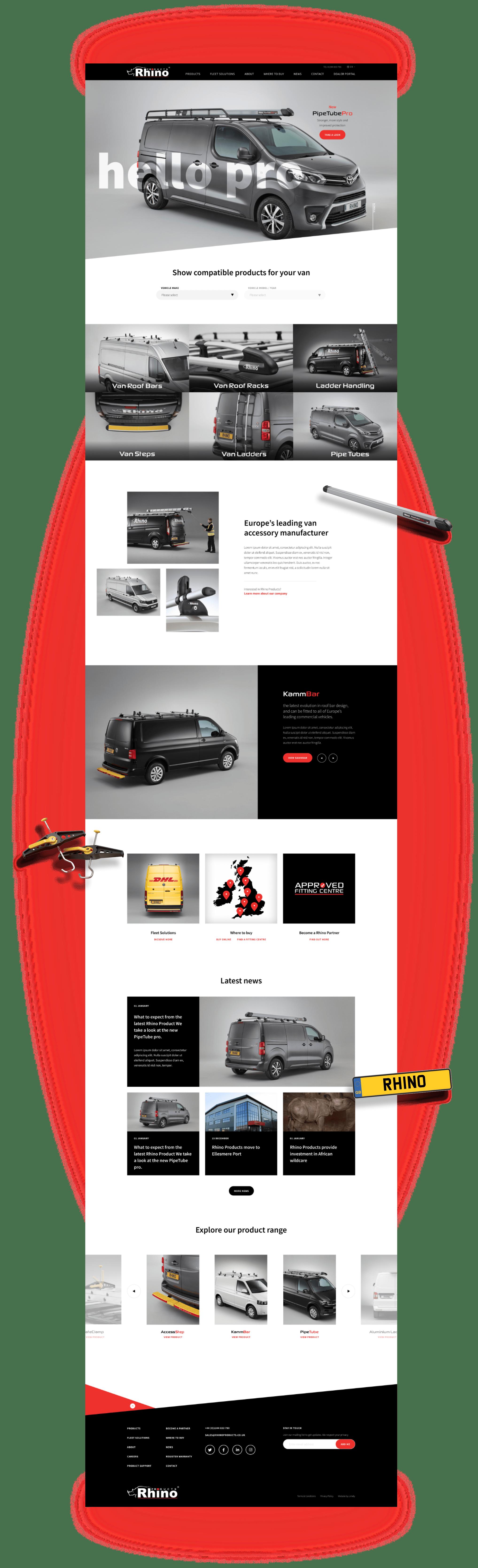 Rhino Products Homepage Full