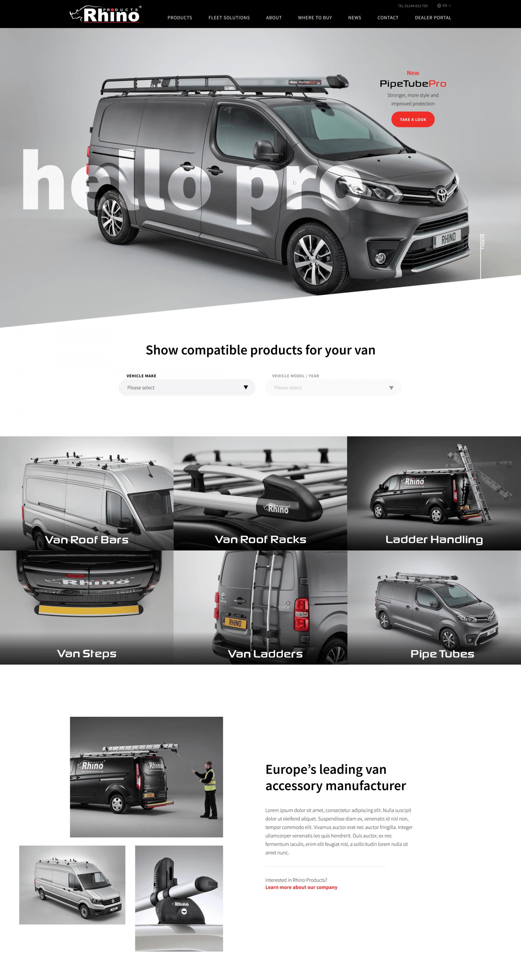 Rhino Products Homepage
