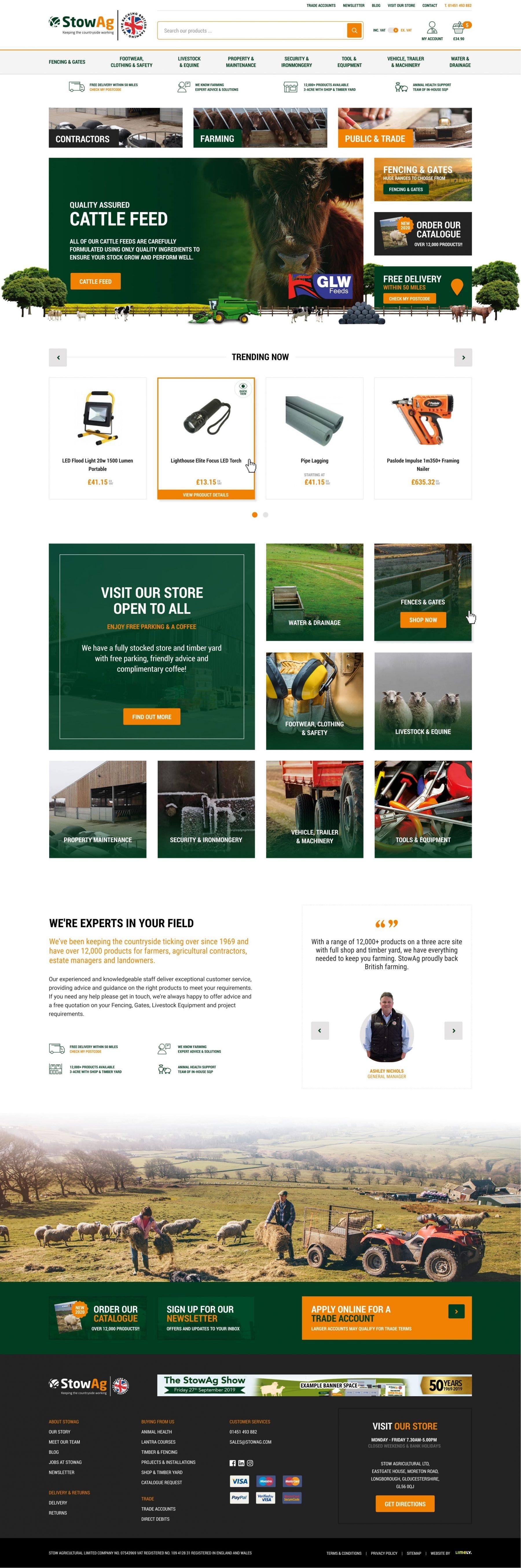 StowAg Homepage