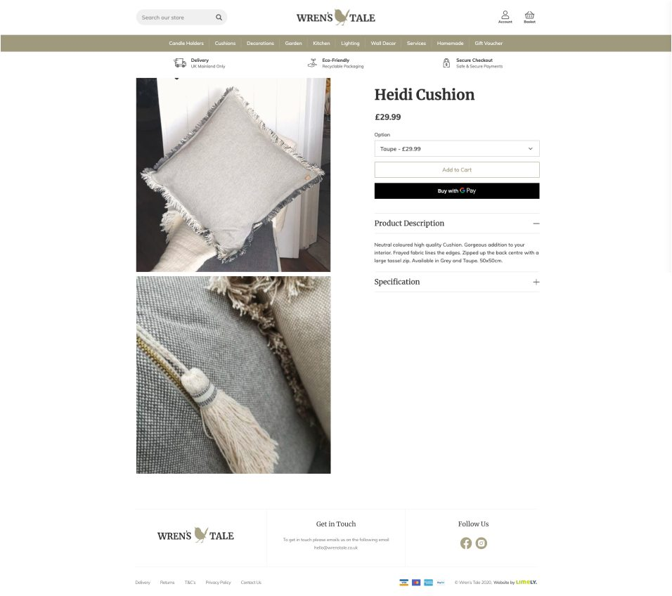 Wren's Tale product page