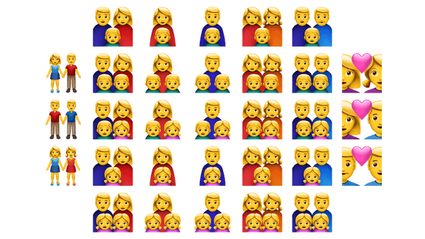 Diverse family and relationship set ups get their own emojis